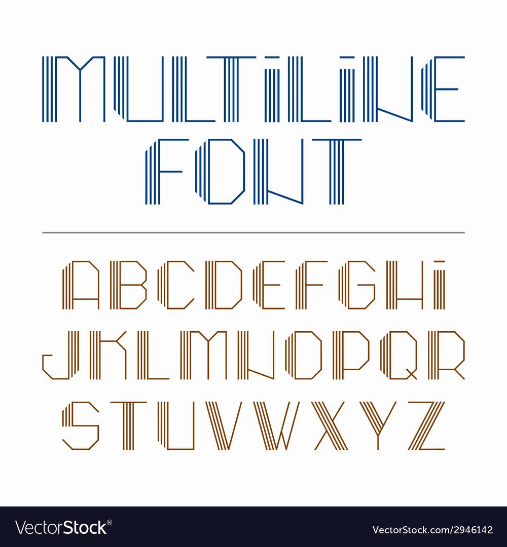 Multiline Font Royalty Free Vector Image Vectorstock