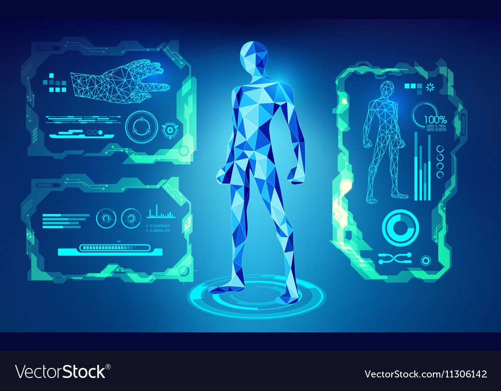 Robot preview vector image