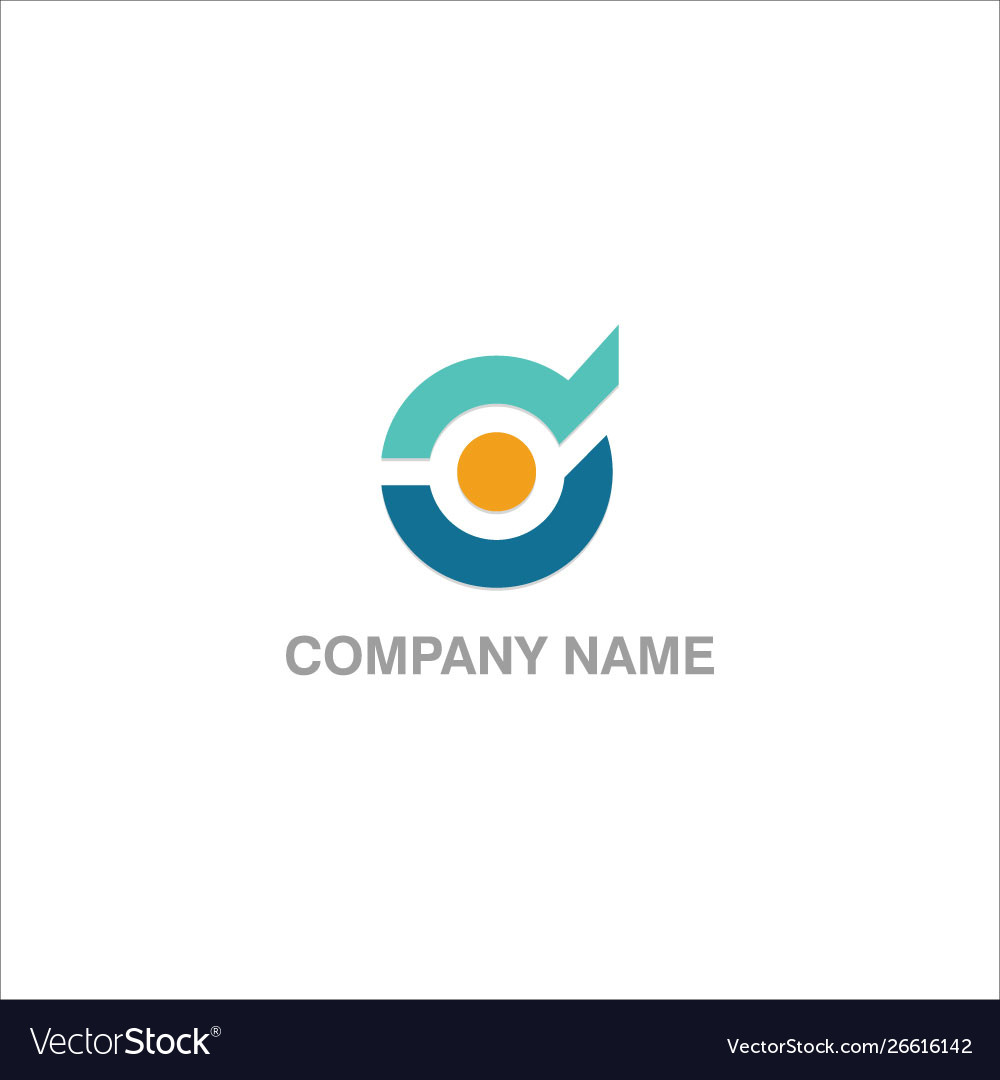 Round technology company logo