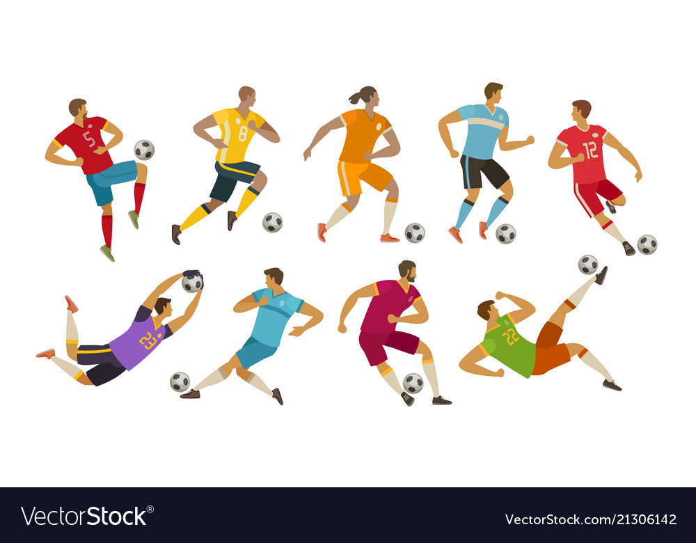 Soccer players sport concept cartoon