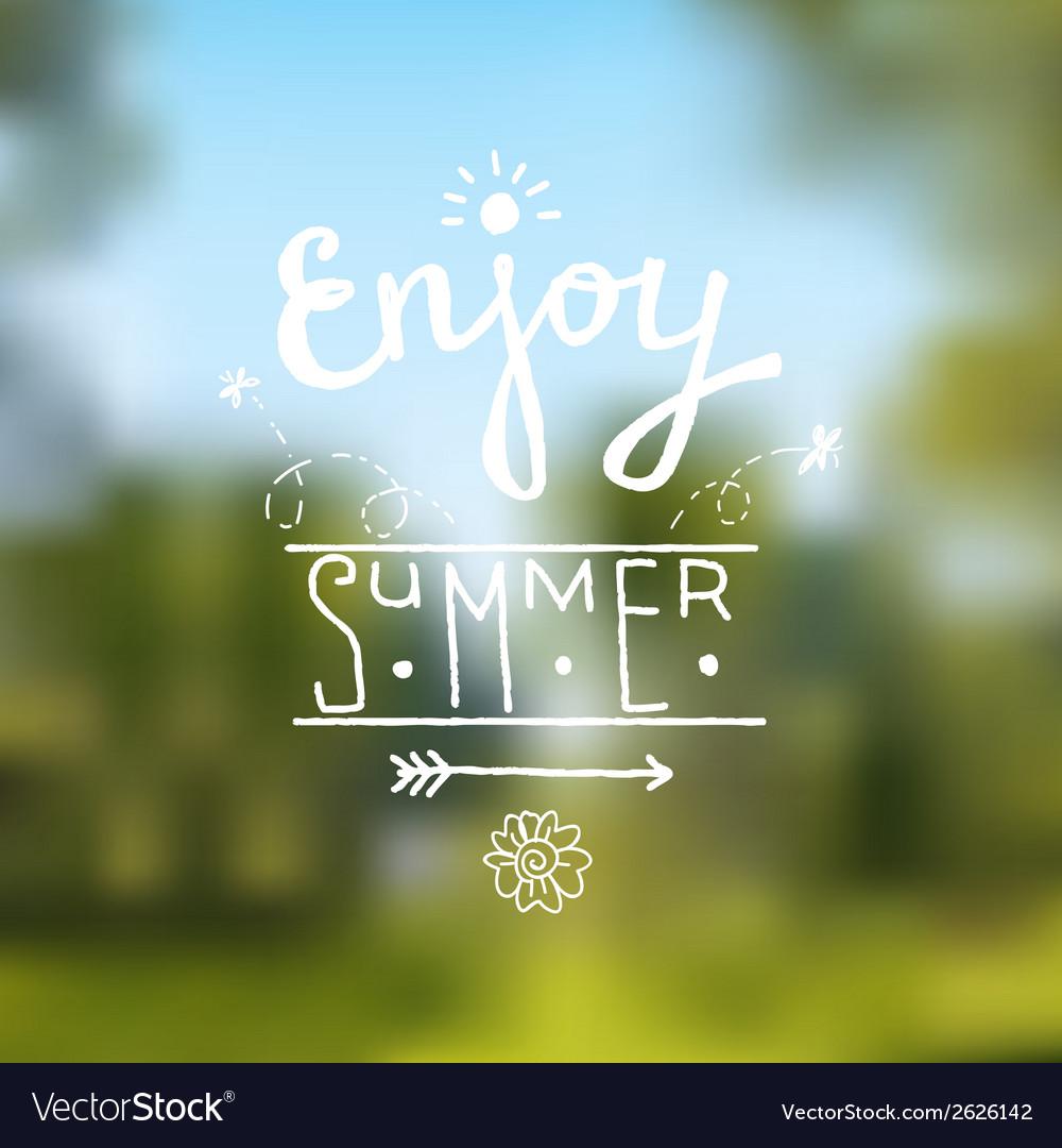 Summer design background vector image