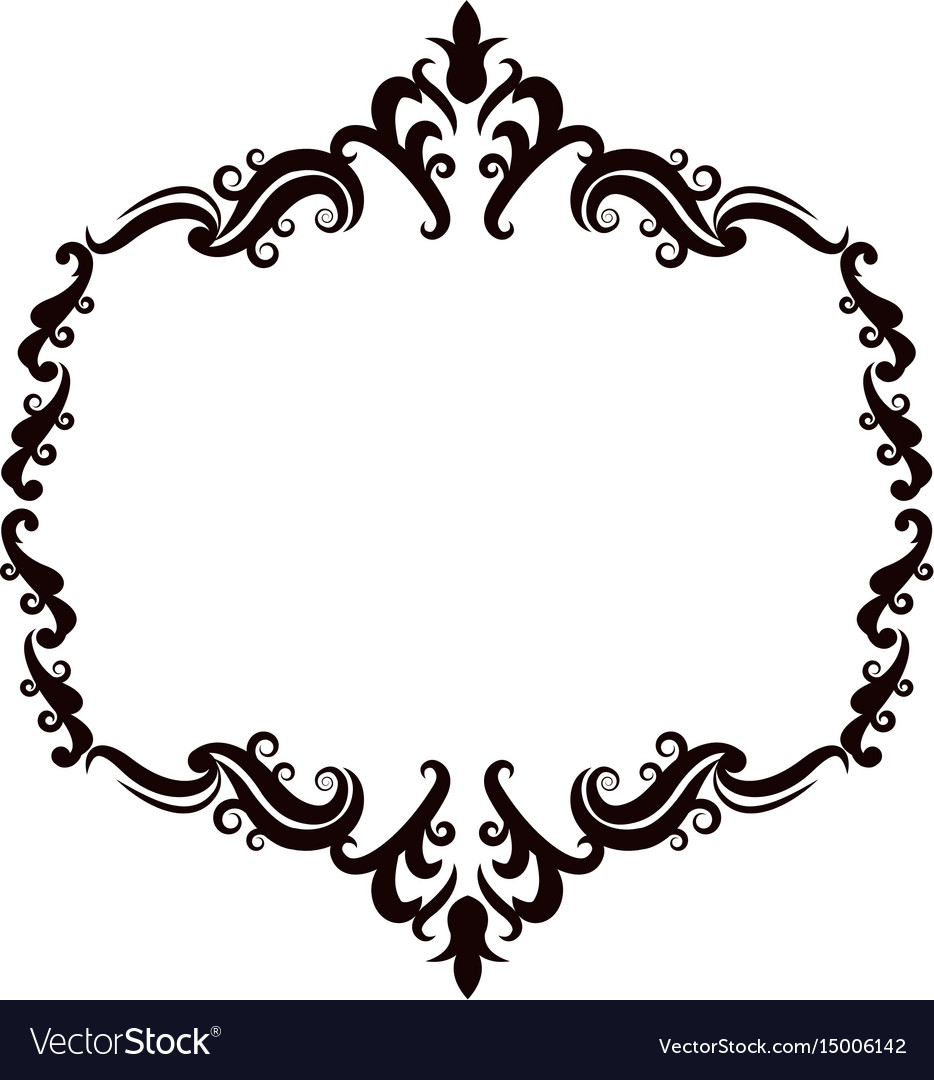 vintage baroque frame scroll floral ornament vector image rh vectorstock com vector frame #31055834 vector frames and borders