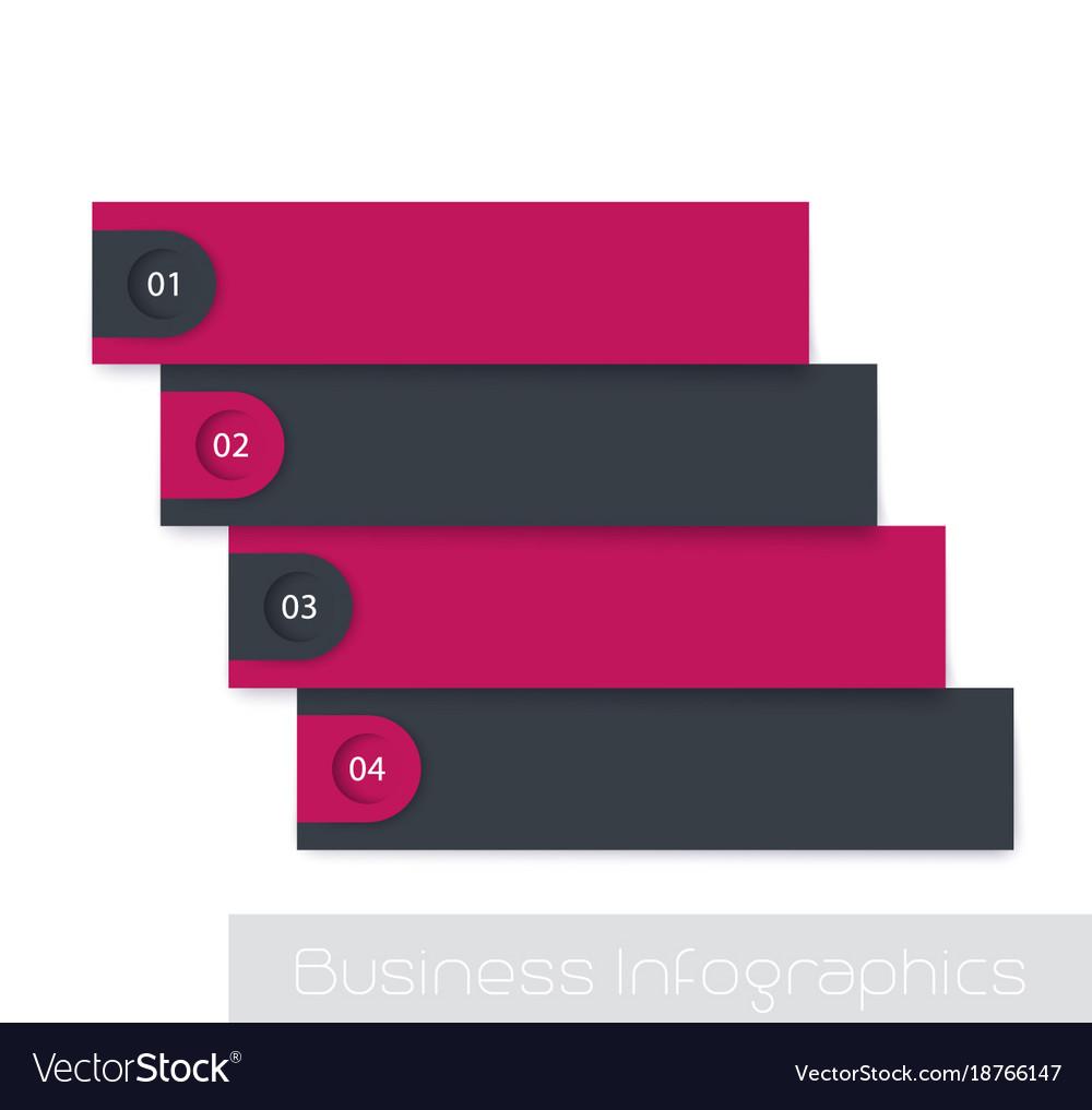 1234 steps timeline infographics