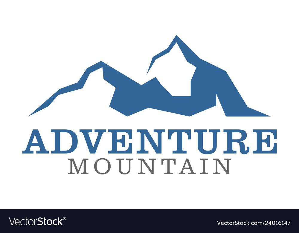Adventure mountain logo icon