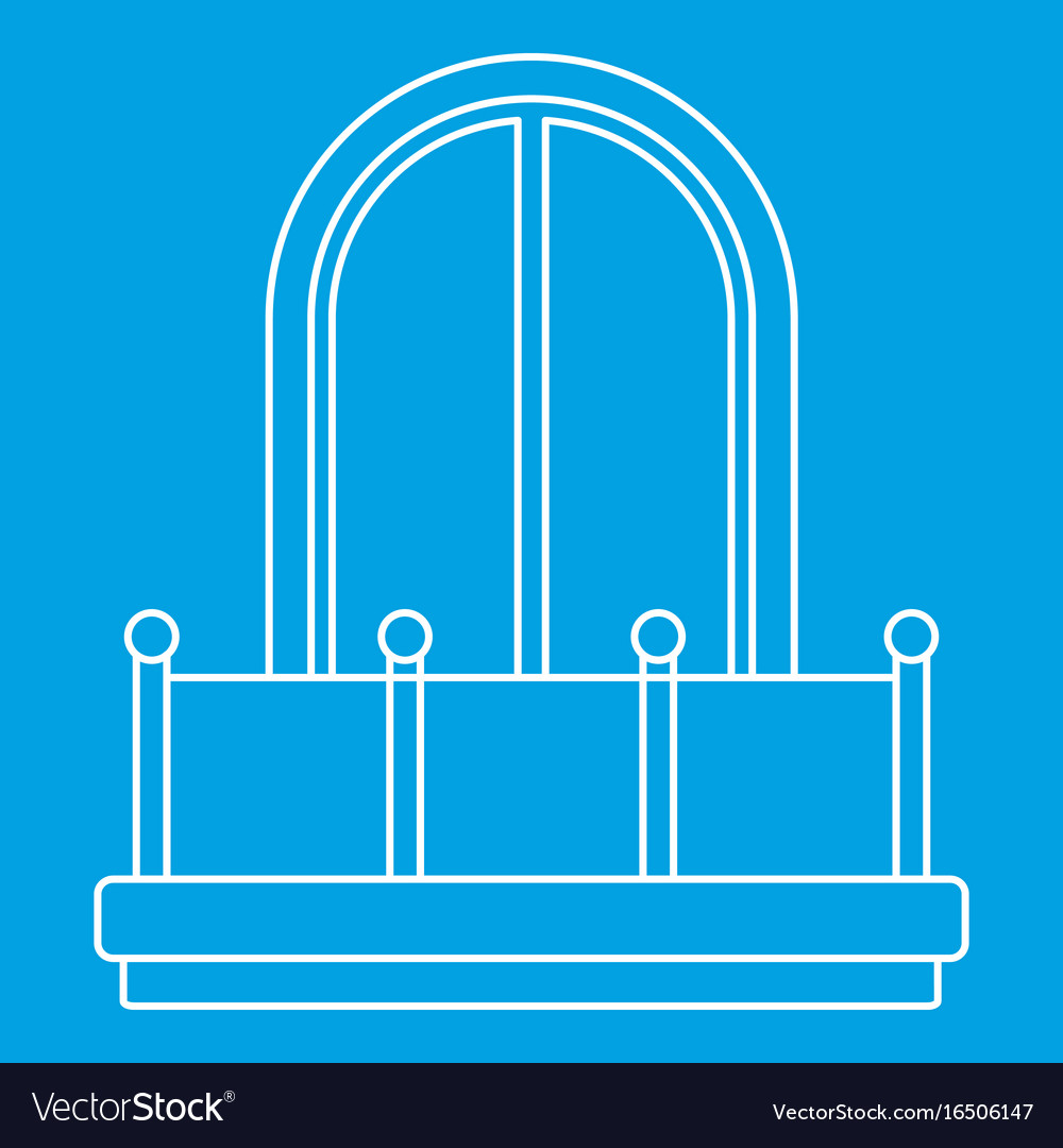Arched window icon outline style