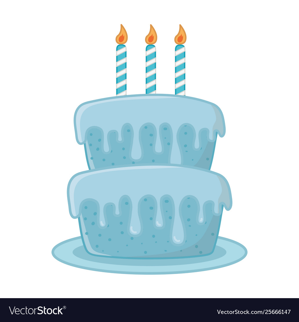 Birthday Cake With Candles Royalty Free Vector Image
