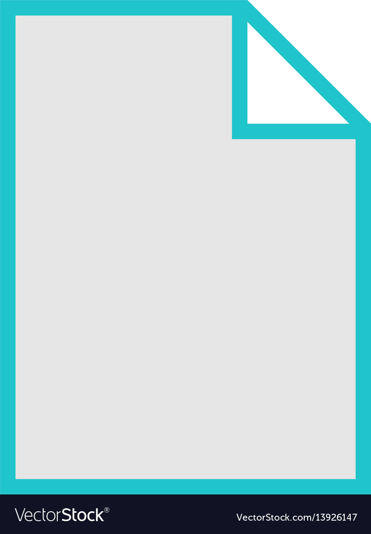 File type icon blank sign