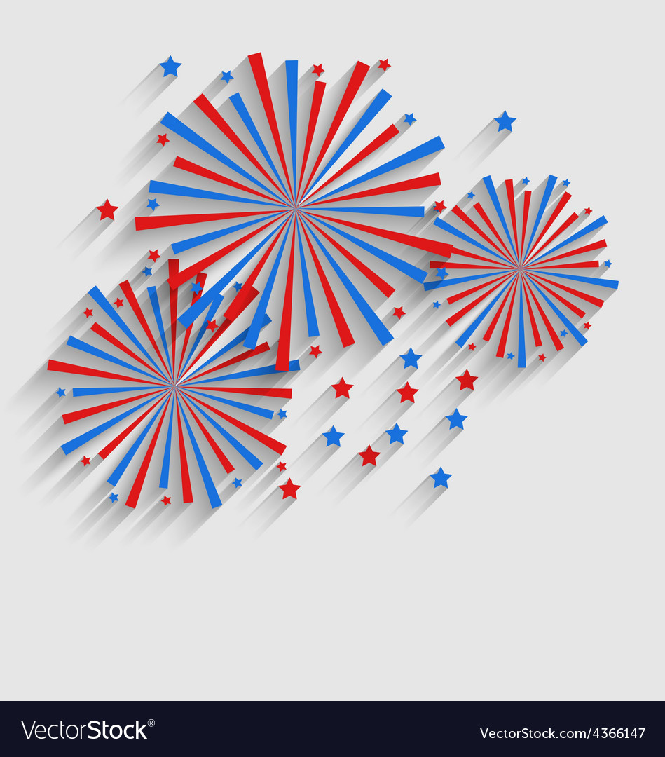 Firework Colorized in Flag US for Celebration