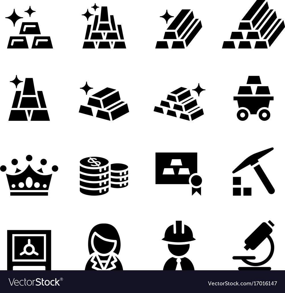Gold icon set