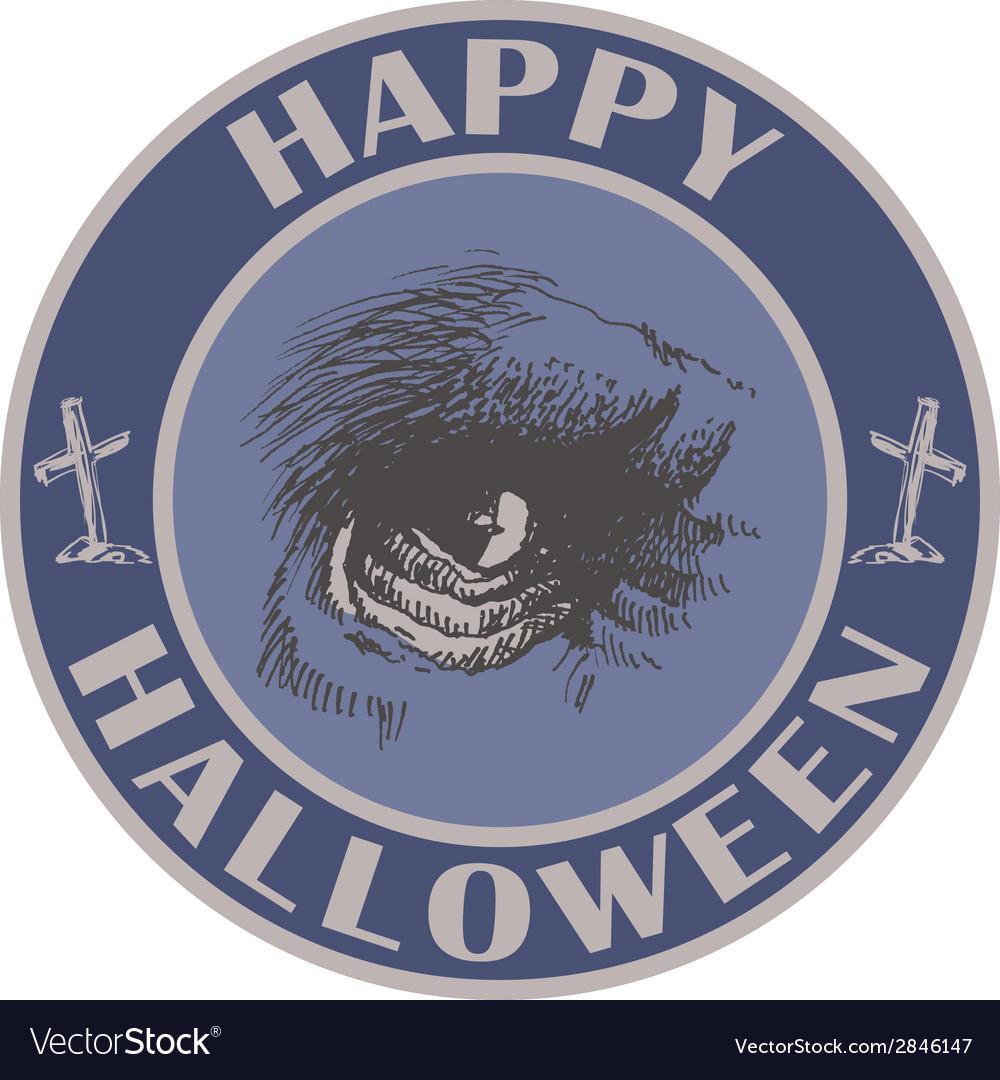 Hand drawn sign Halloween eps8 vector image