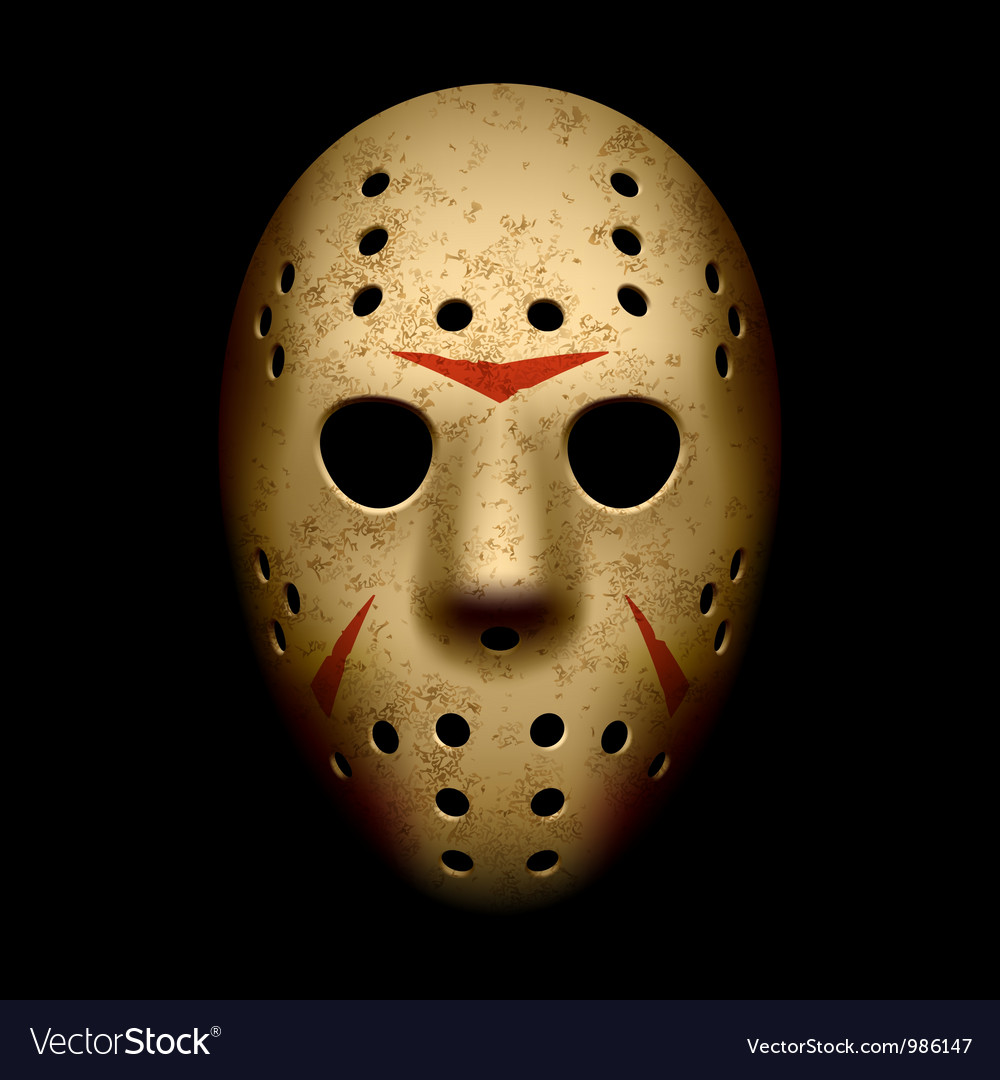 Scary hockey mask vector image