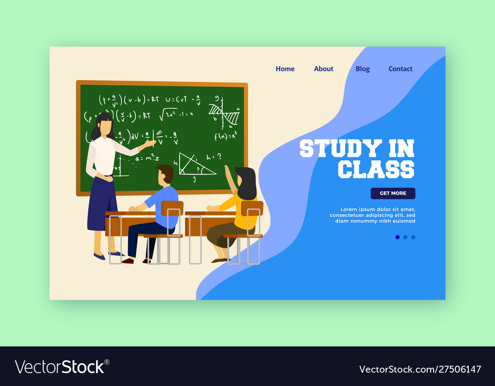 Study in class landing page children study in