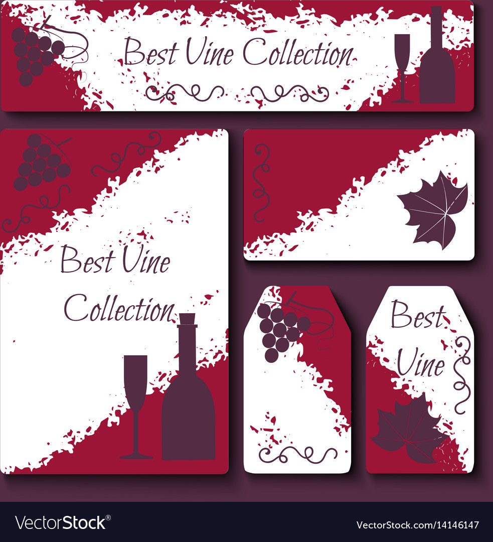 Wine business cards set royalty free vector image wine business cards set vector image colourmoves