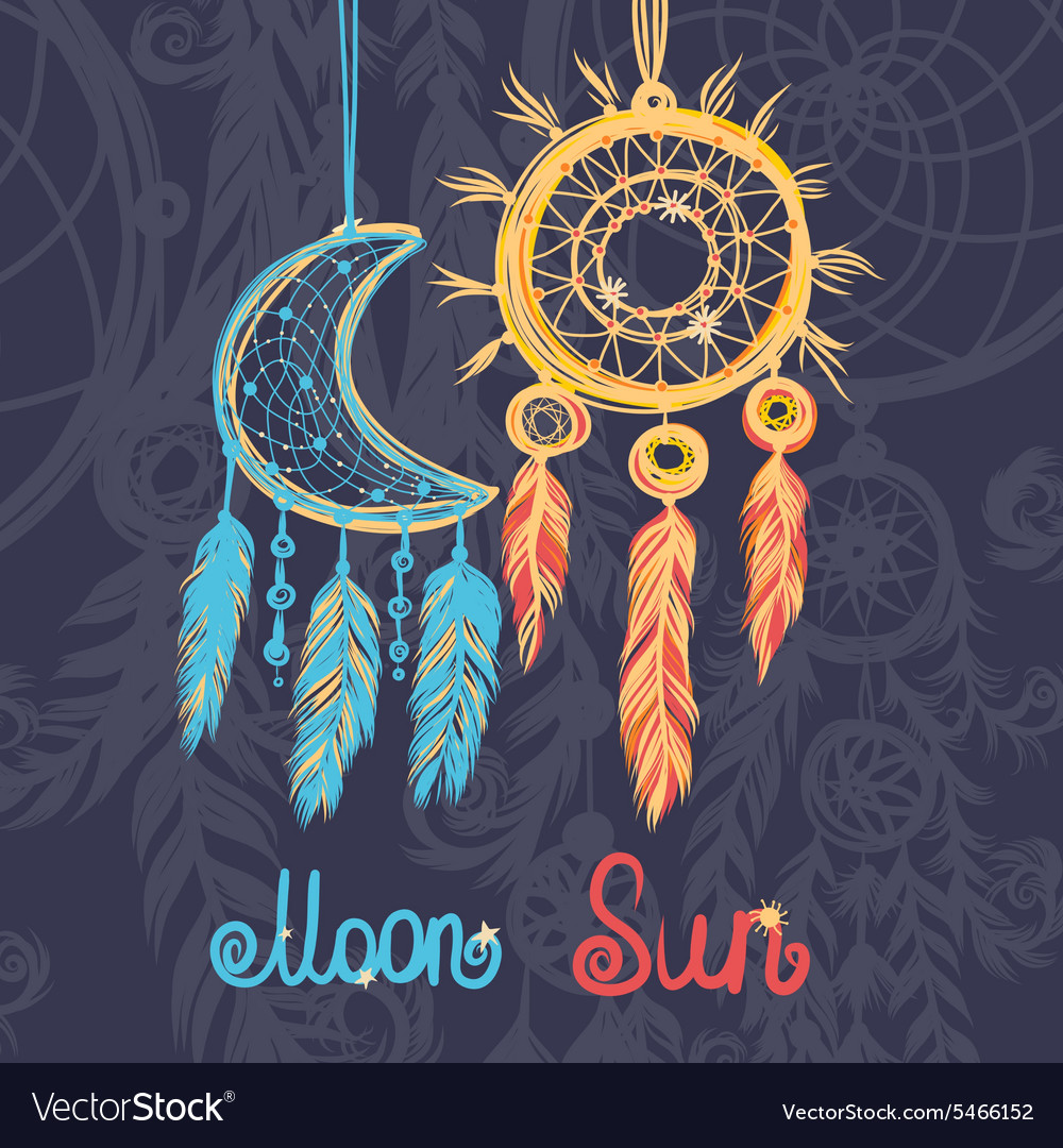 Beautiful with dream catchers