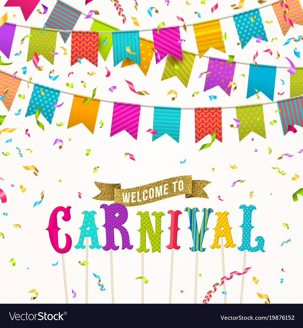 Carnival greeting card