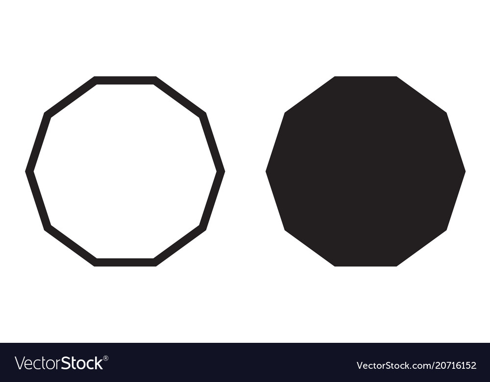 Decagon icon decagonal polygon vector image