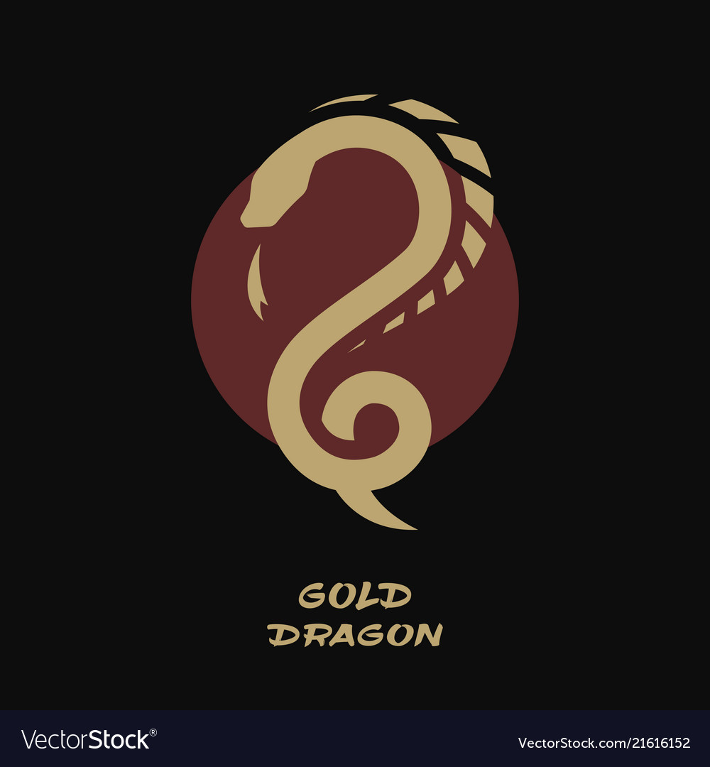 Dragon logo against the background of the sun
