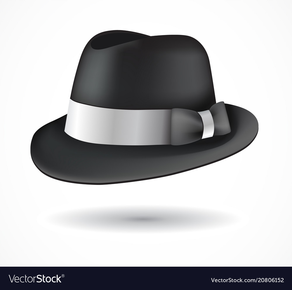 Fedora hat isolated on white