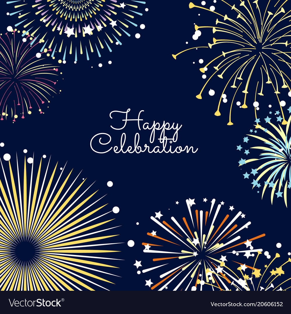fireworks background with royalty free vector image