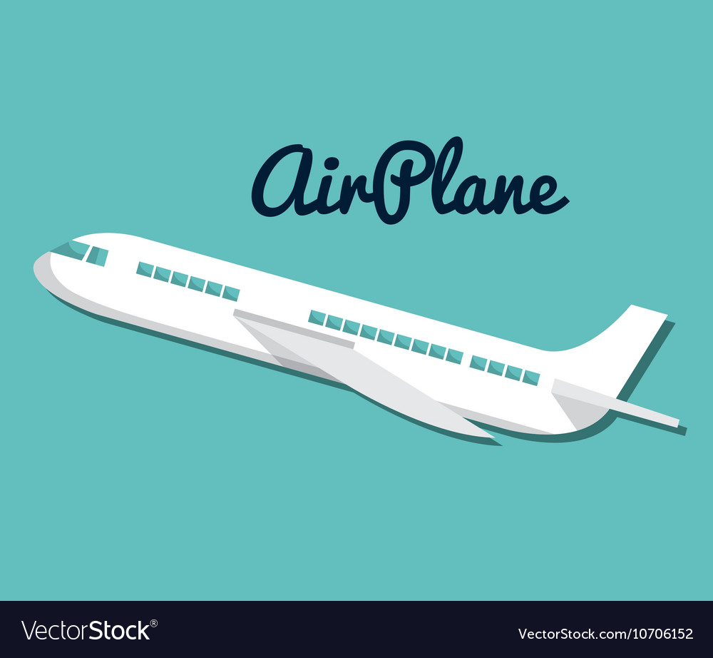 Icon airplane travel vacations design