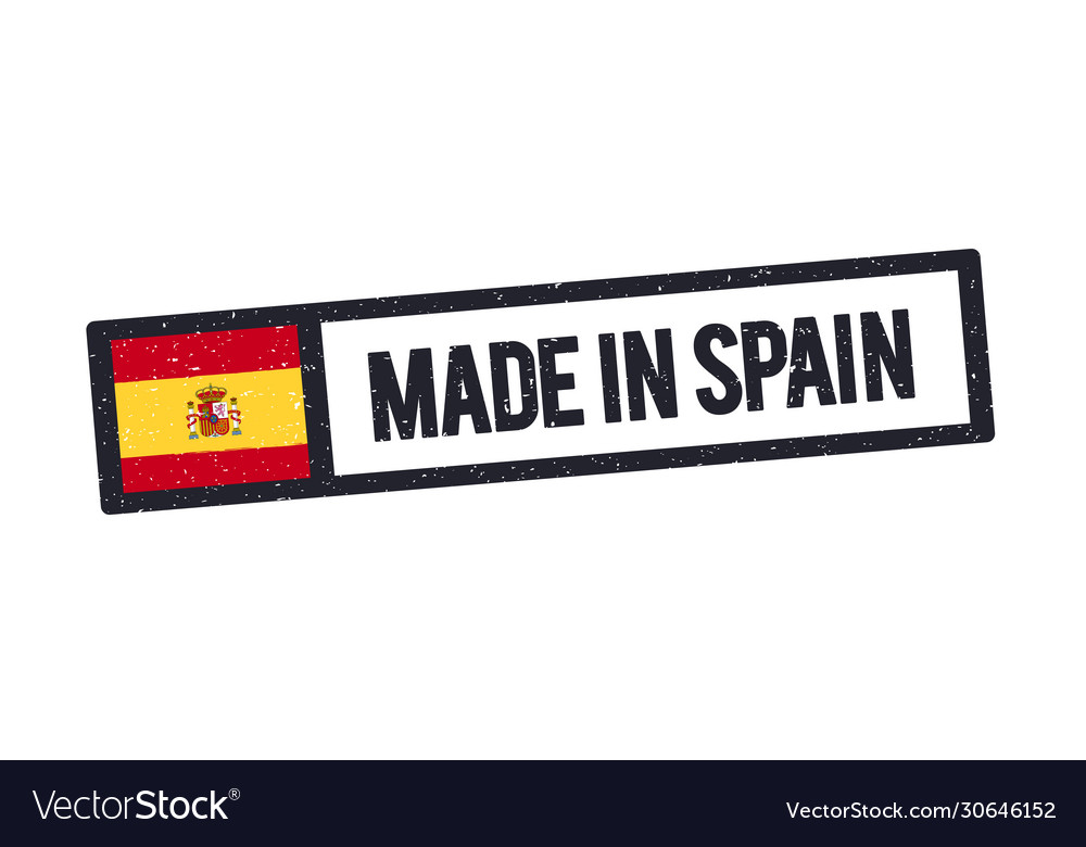 Made in spain stamp with spanish flag