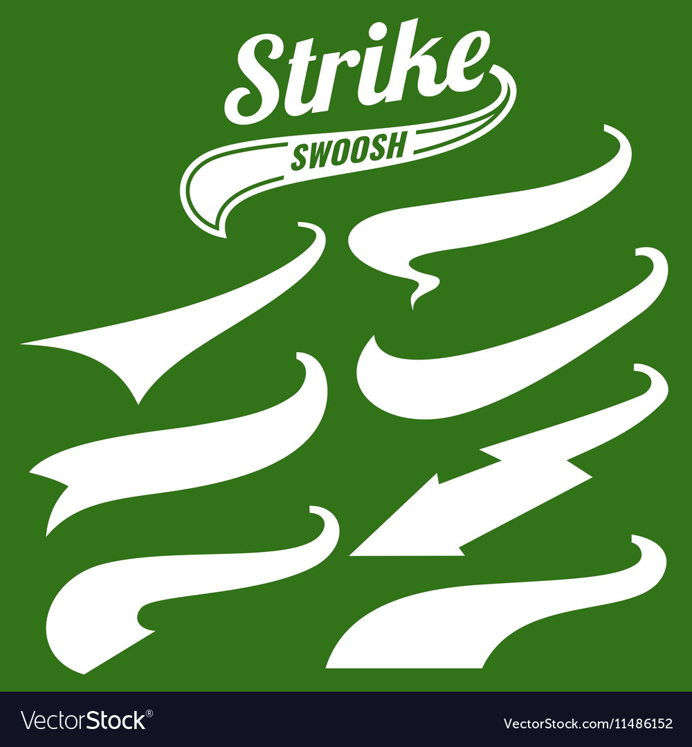 Retro swishes baseball swash tails vector image