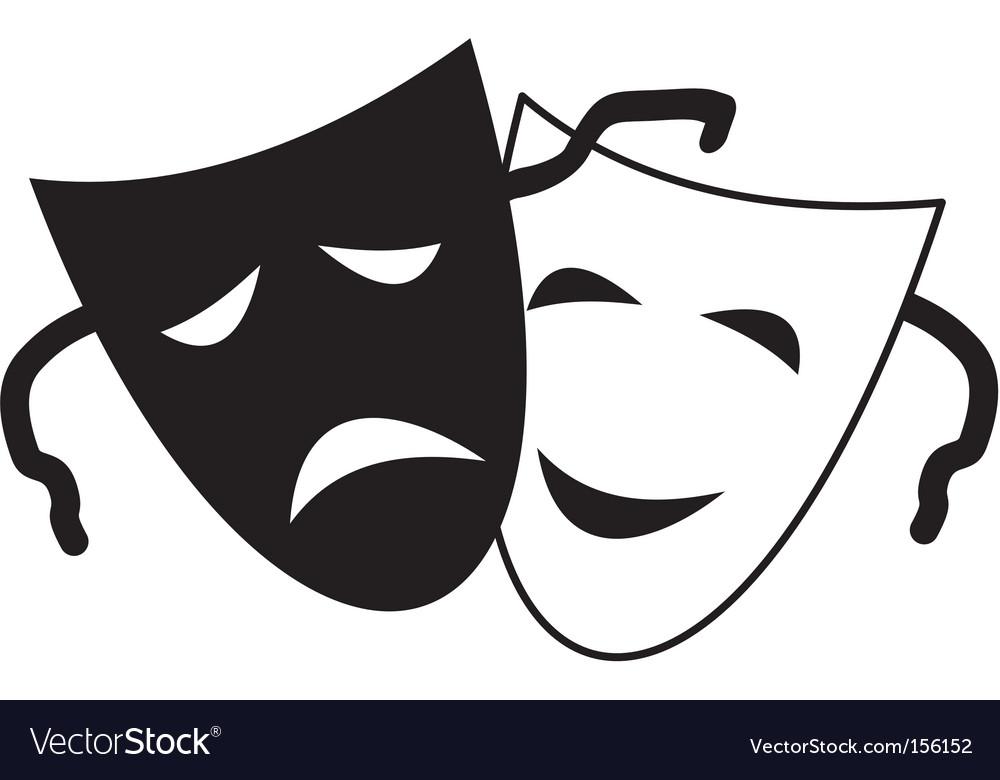 Trical masks vector image