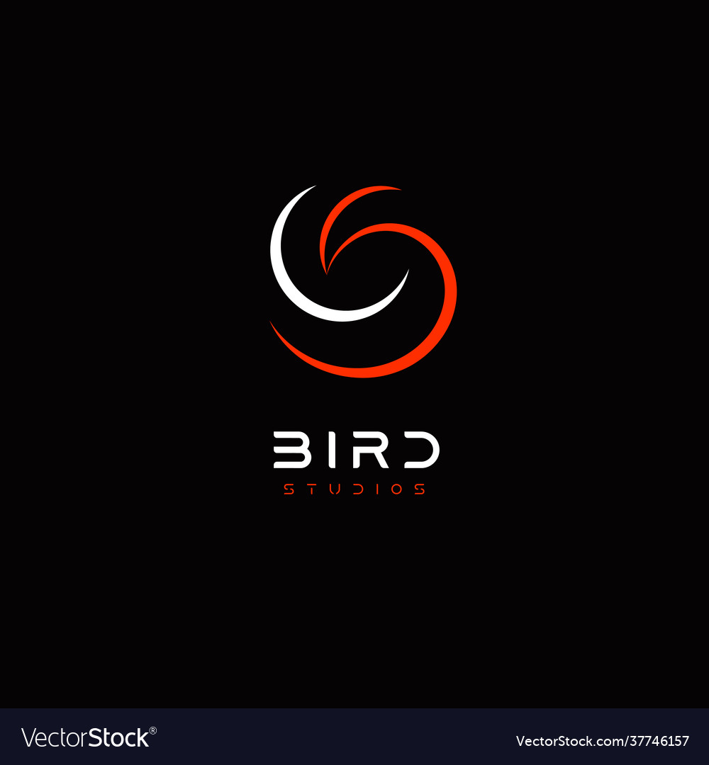 Bird abstract logo template for business identity