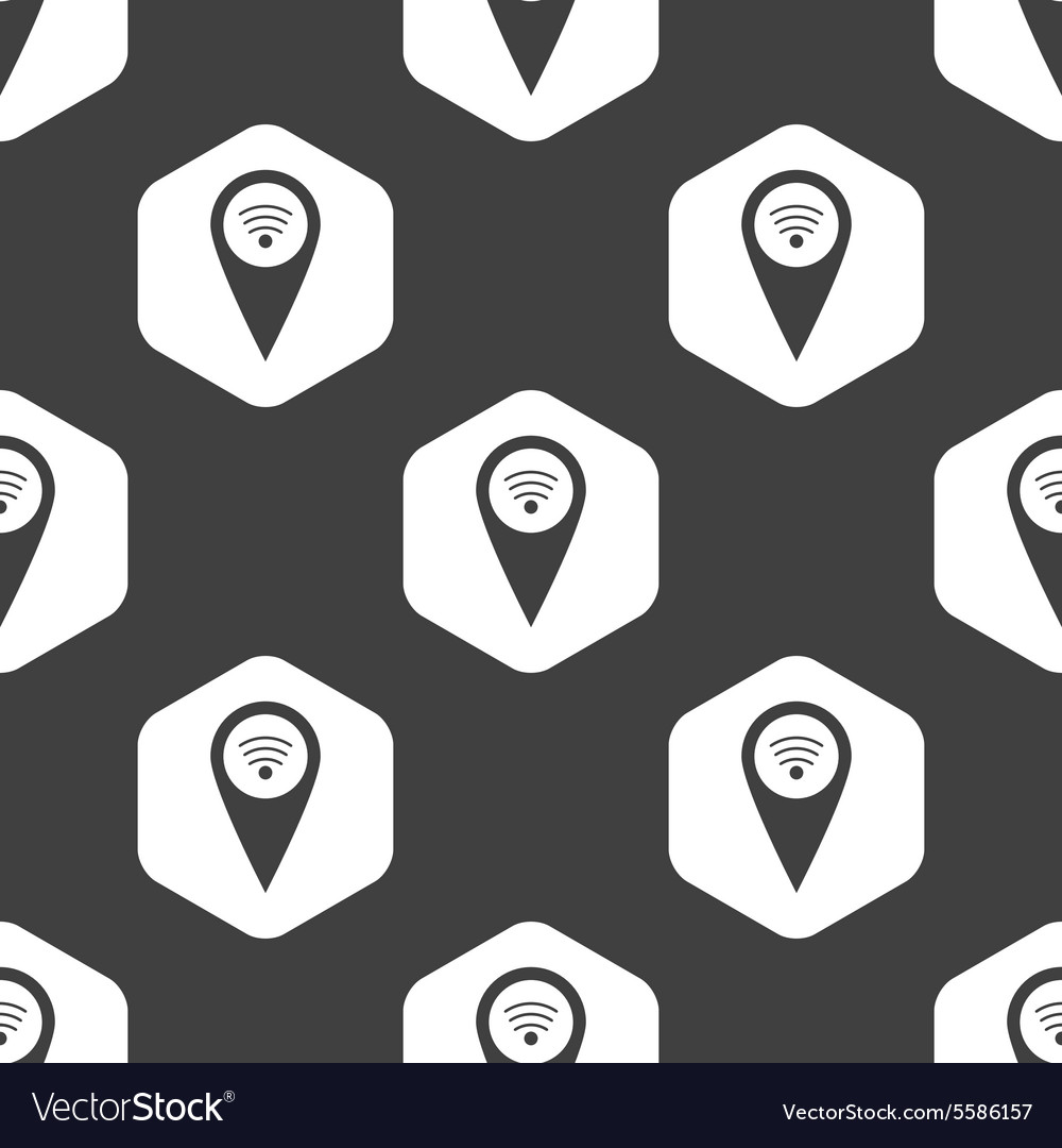 Black hexagon Wi-Fi pointer pattern