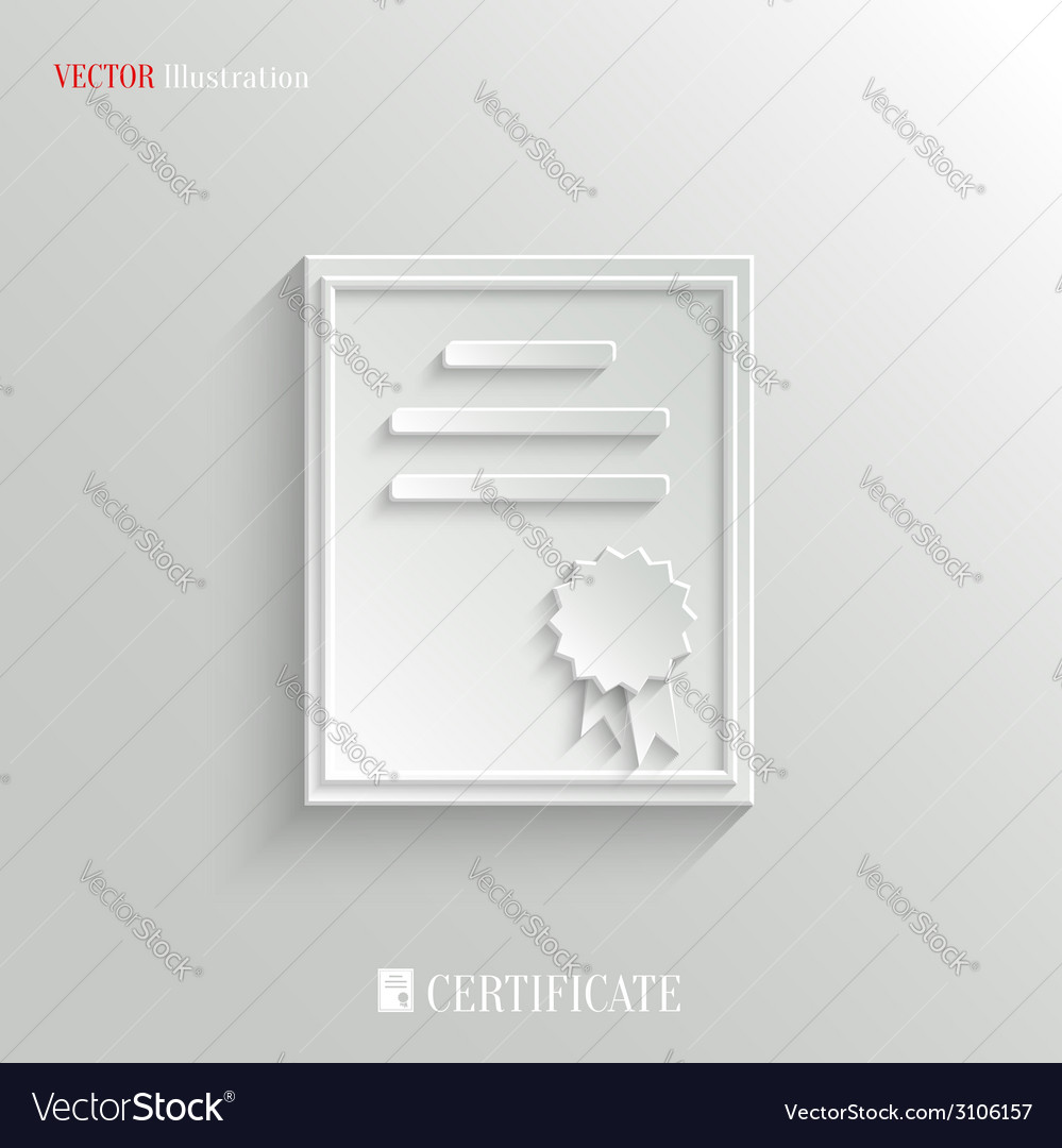 Certificate icon - education background