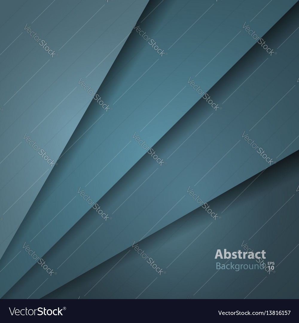 Dark green turquoise layer background vector image