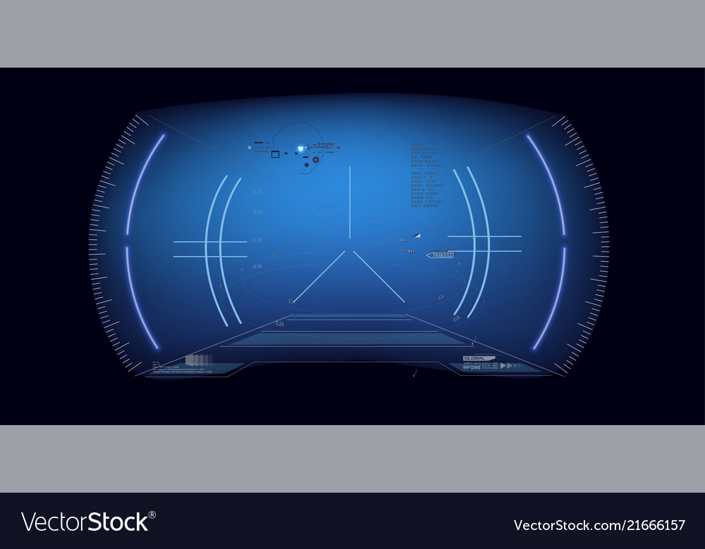 Futuristic vr head-up display desig