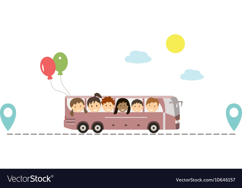 Kids Traveling by Bus