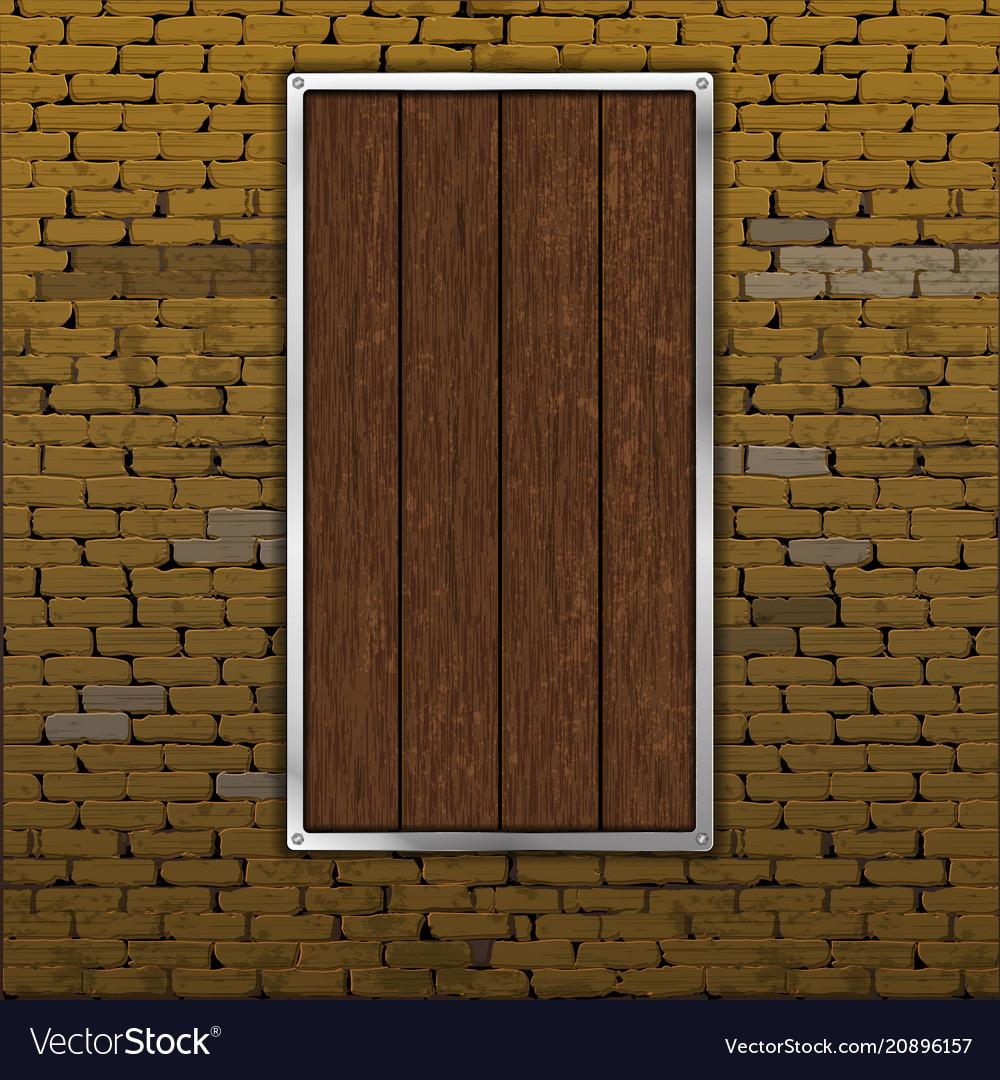Old Brick Wall Wood Sheet