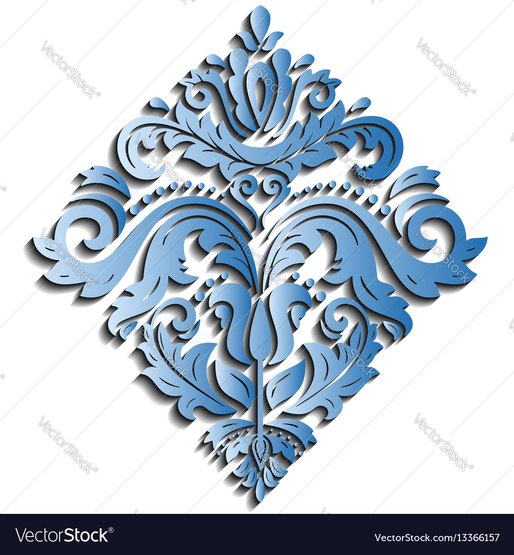 Oriental pattern with 3d elements