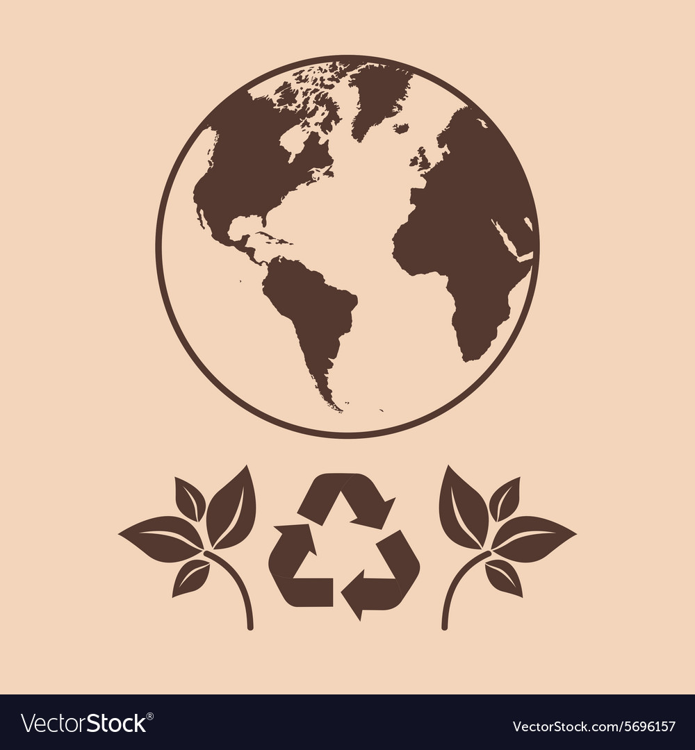 Save The Earth Design Royalty Free Vector Image