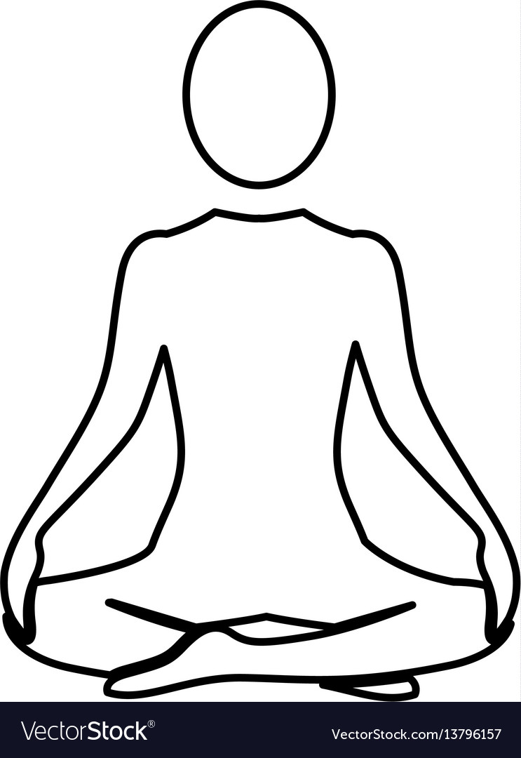Silhouette woman sitting yoga position
