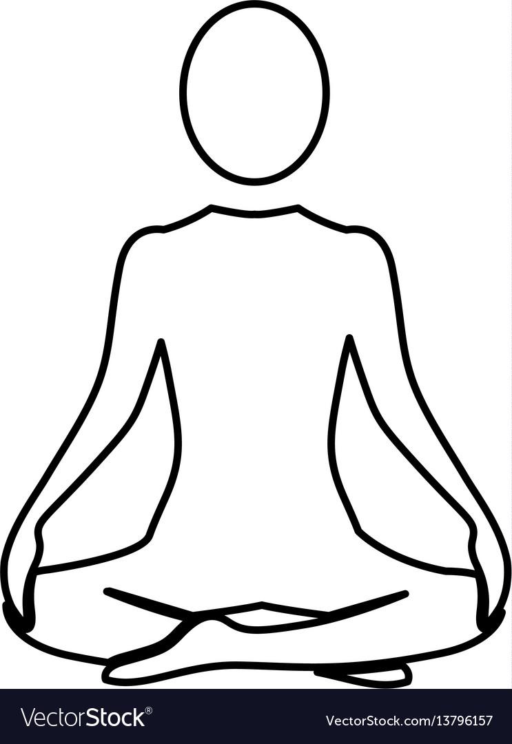 Silhouette woman sitting yoga position