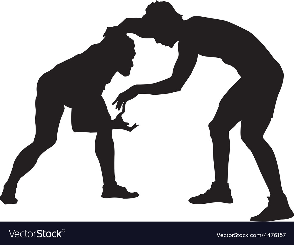 Wrestle vector image
