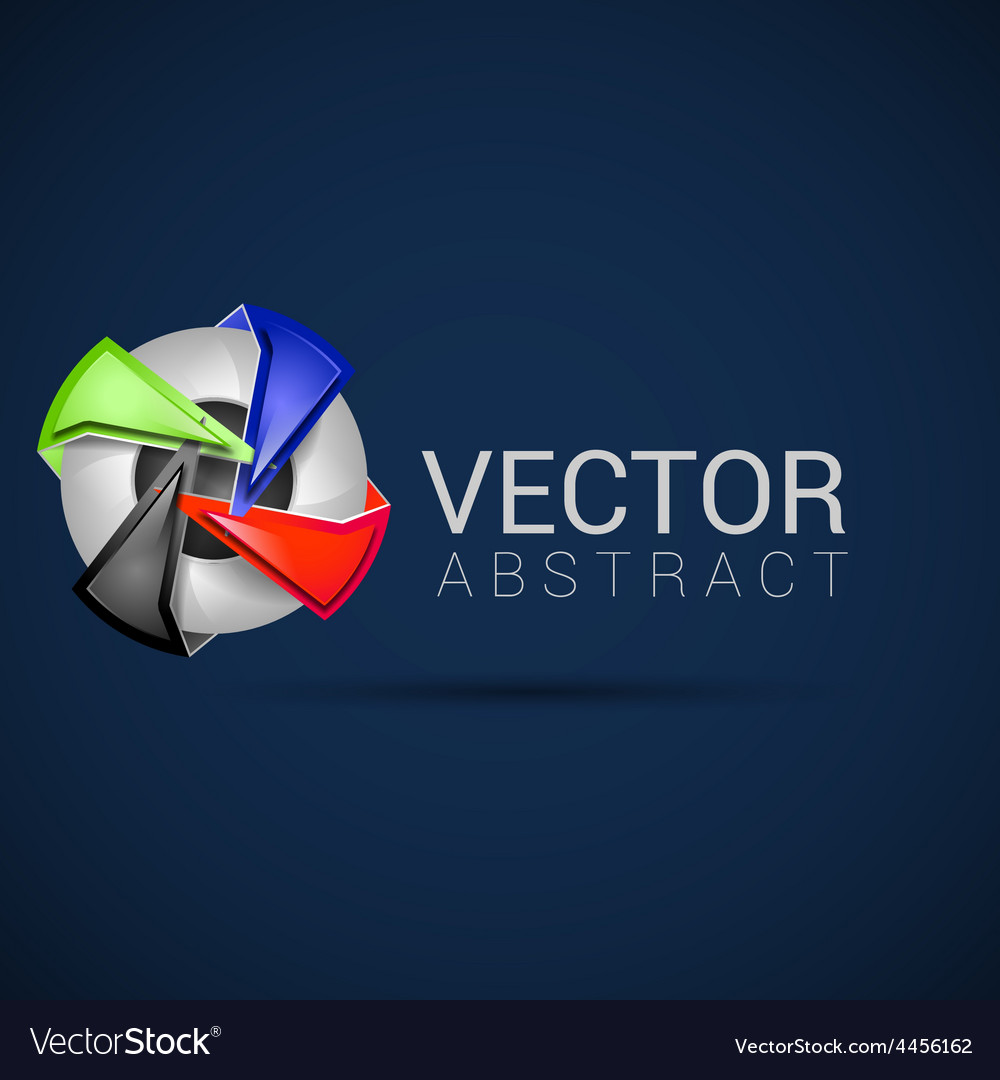 Abstract shape eps10 design color abstract icon