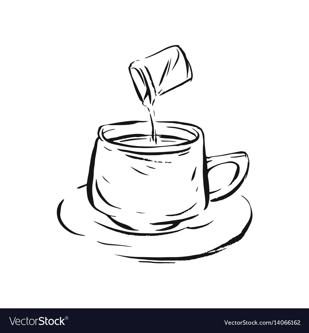 Big set of coffee and tea vector image
