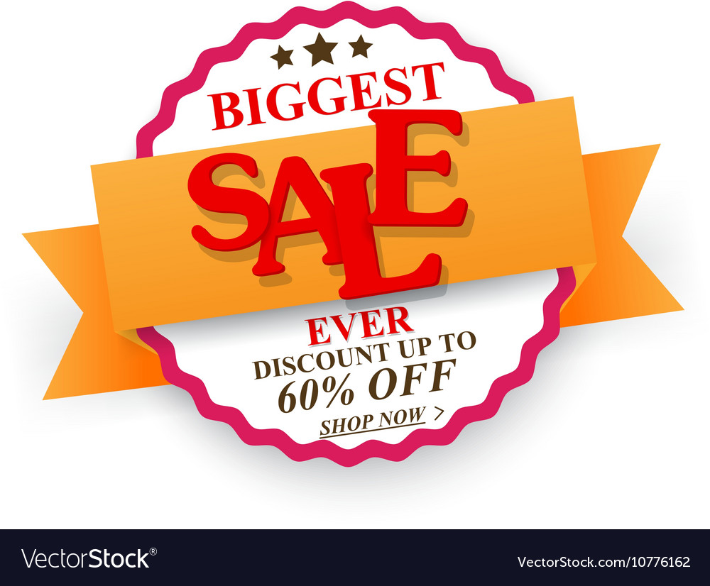 Biggest Sale design with percent discount