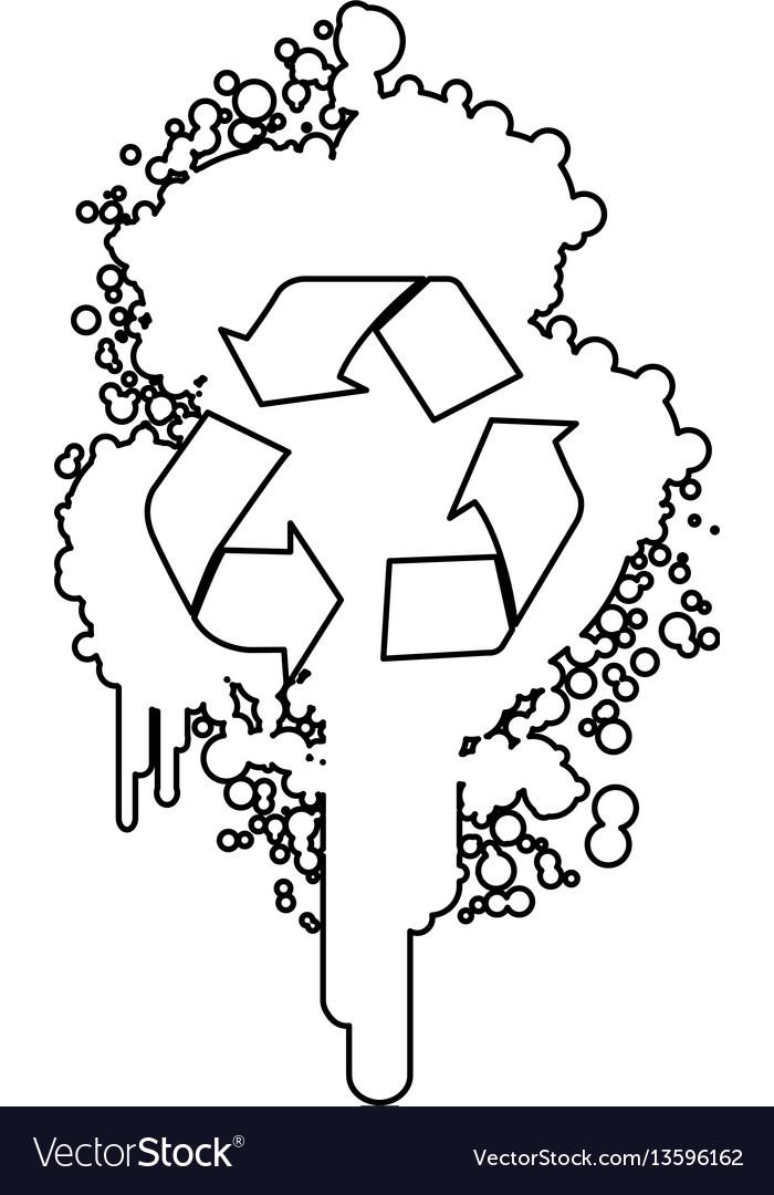 Figure stain aerosol sprays with recycle symbol