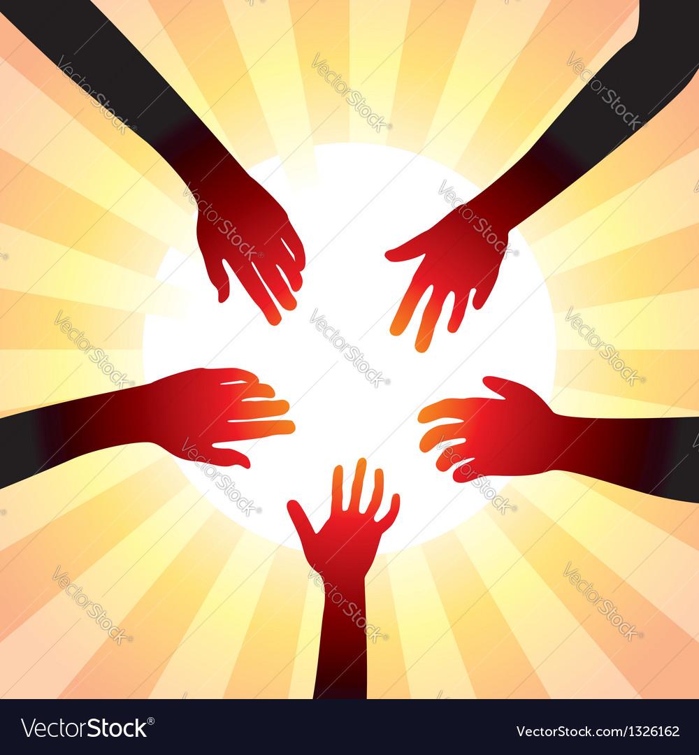 Hands around sun