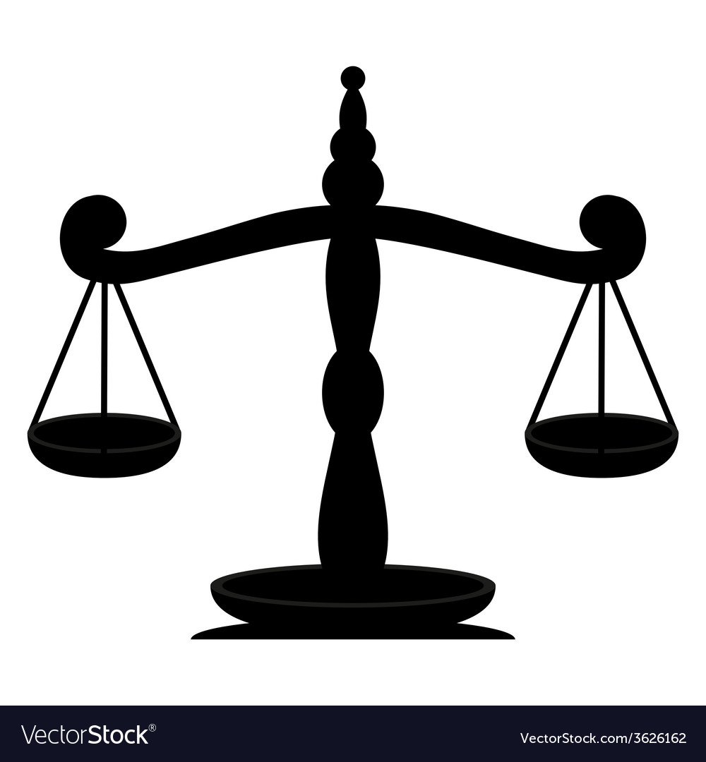 Scales Of Justice Royalty Free Vector Image Vectorstock