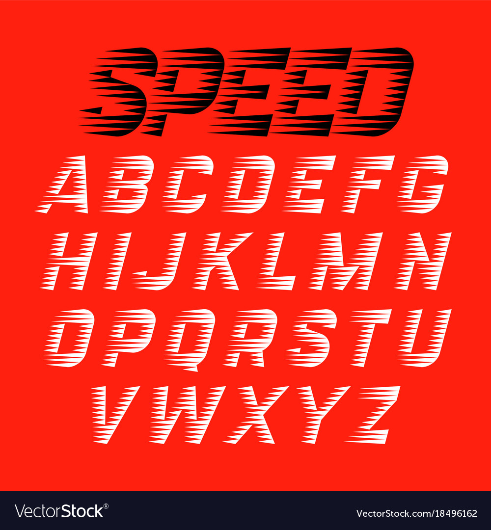 Speed style font