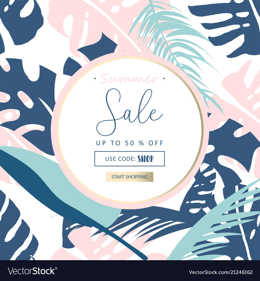 Trendy pastel sale banners