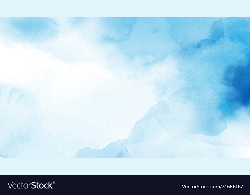 Abstract light blue watercolor for background