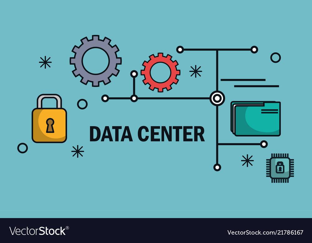 Big data set icons vector image on VectorStock
