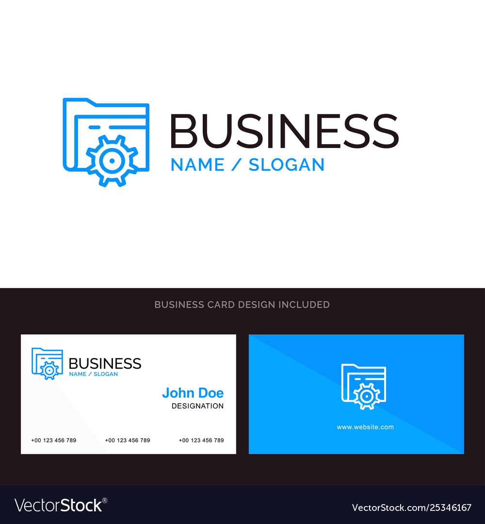 Logo and business card template for folder